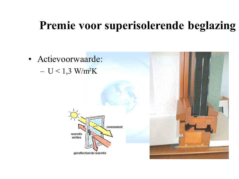 Premie voor superisolerende beglazing