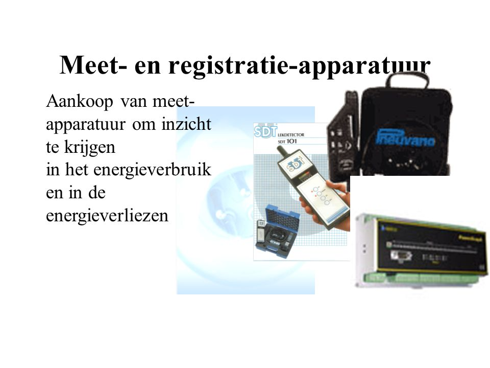 Meet- en registratie-apparatuur