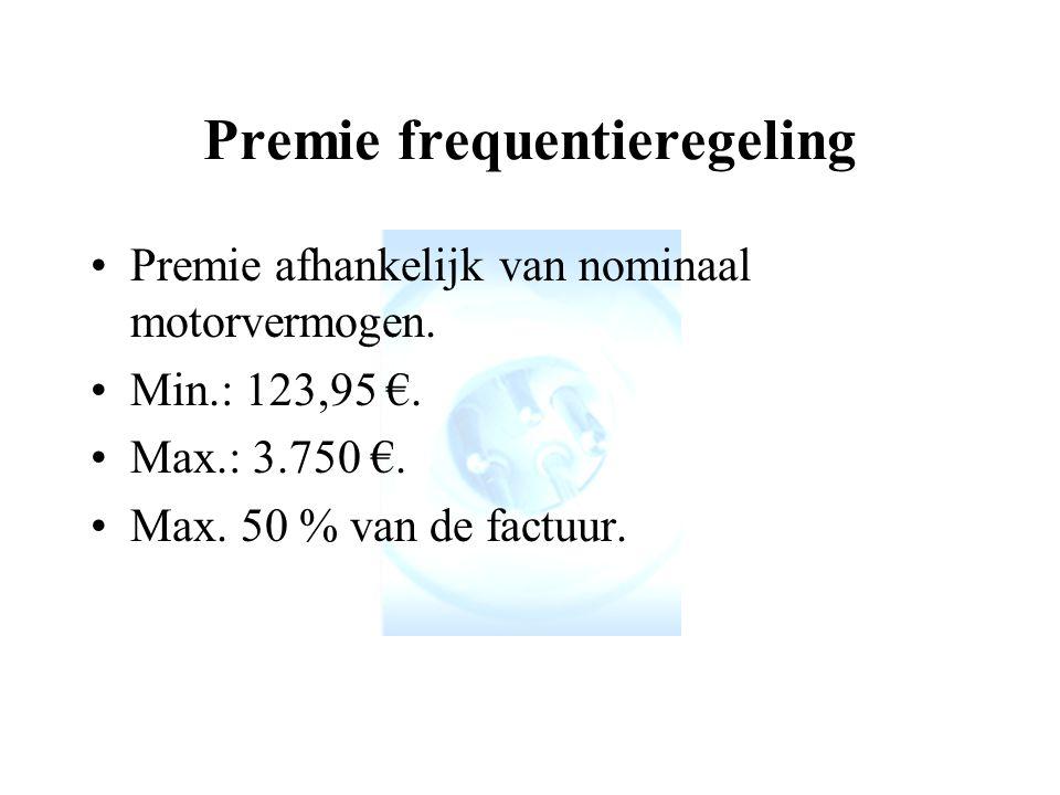 Premie frequentieregeling