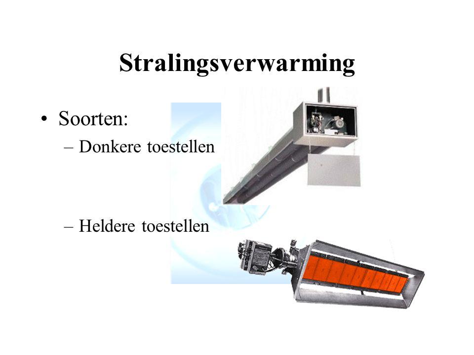 Stralingsverwarming Soorten: Donkere toestellen Heldere toestellen