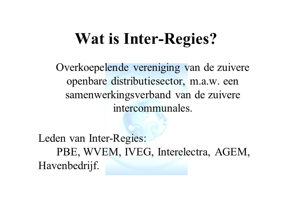 Wat is Inter-Regies