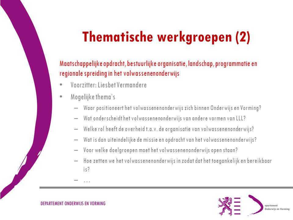 Thematische werkgroepen (2)