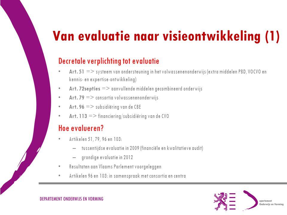 Van evaluatie naar visieontwikkeling (1)