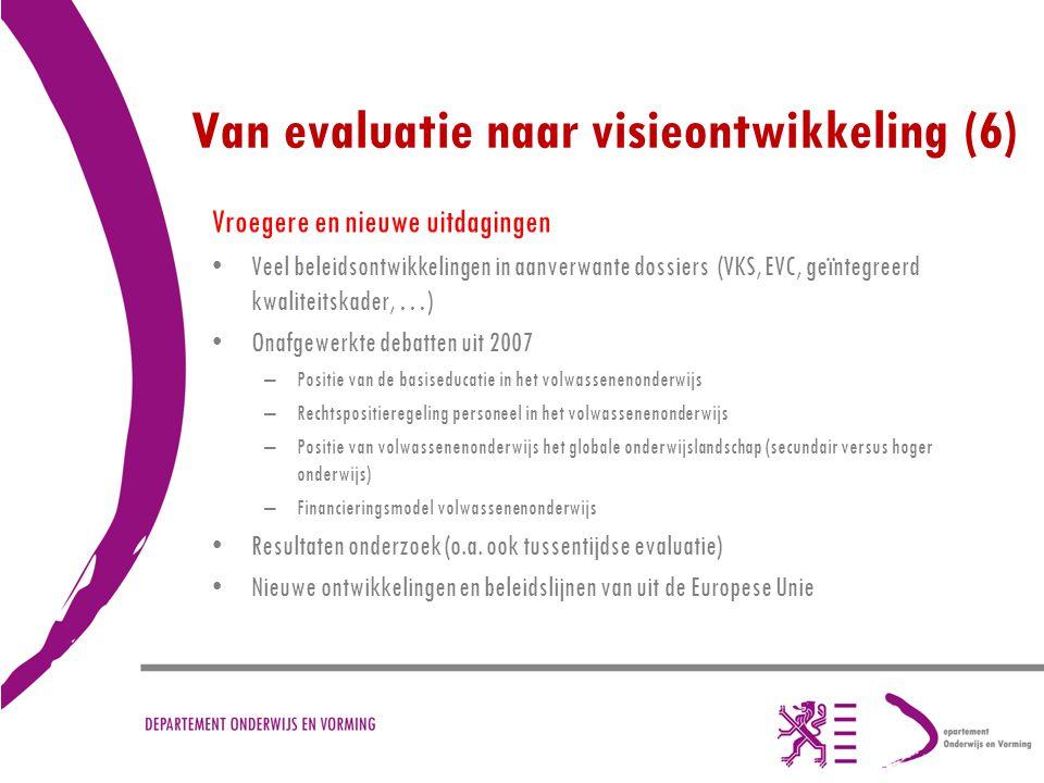 Van evaluatie naar visieontwikkeling (6)