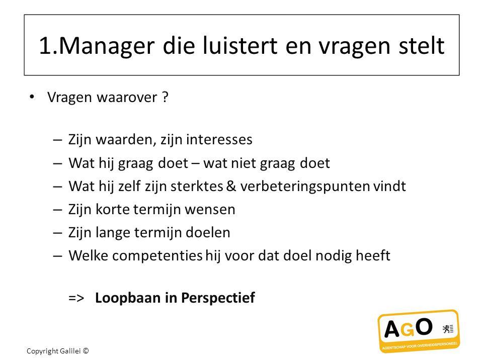 1.Manager die luistert en vragen stelt