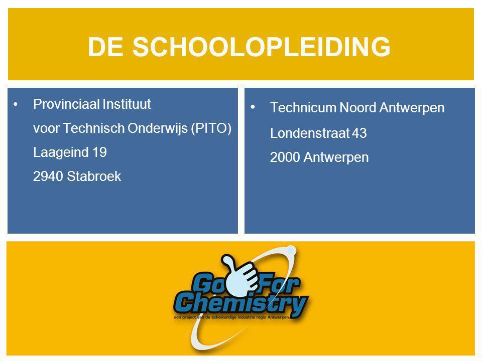 DE SCHOOLOPLEIDING • Technicum Noord Antwerpen • Provinciaal Instituut