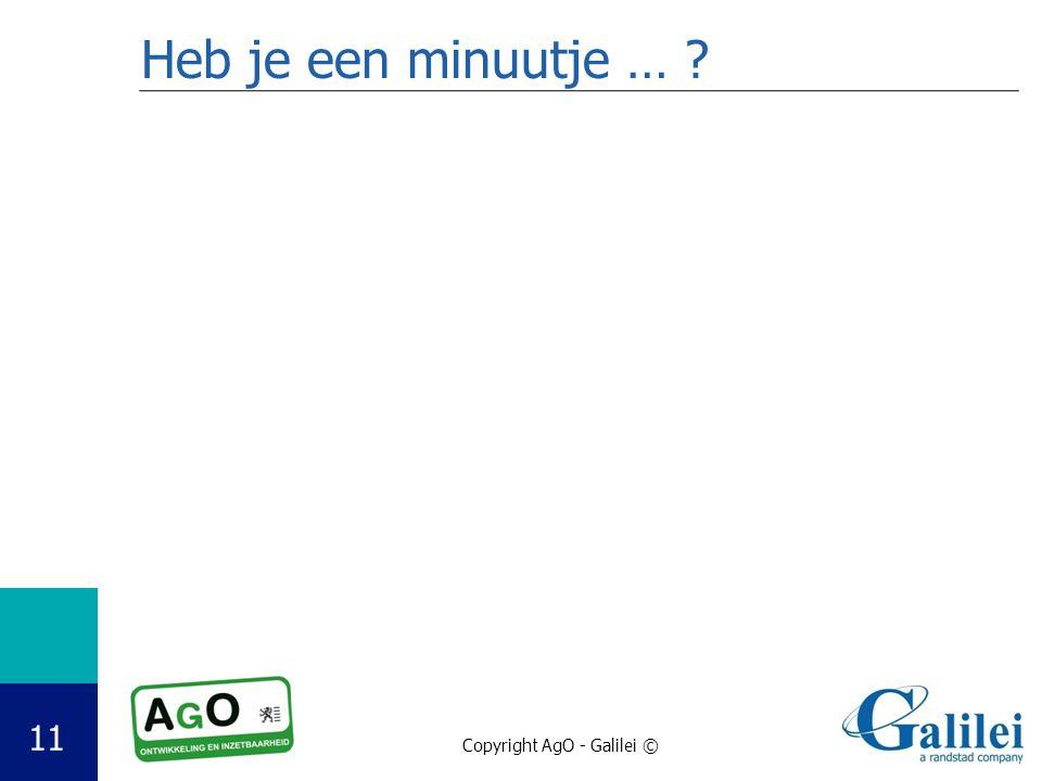 Heb je een minuutje …