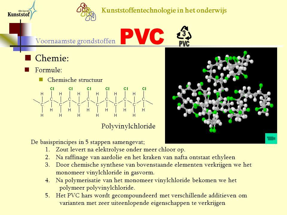Chemie: Formule: Polyvinylchloride Chemische structuur