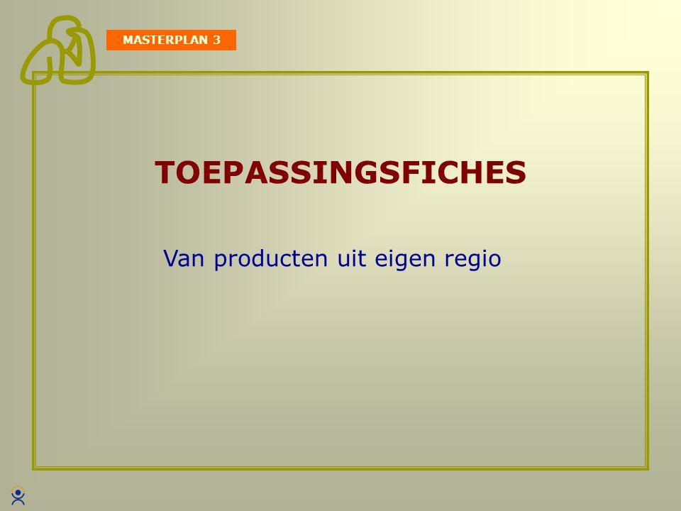 MASTERPLAN 3 TOEPASSINGSFICHES Van producten uit eigen regio