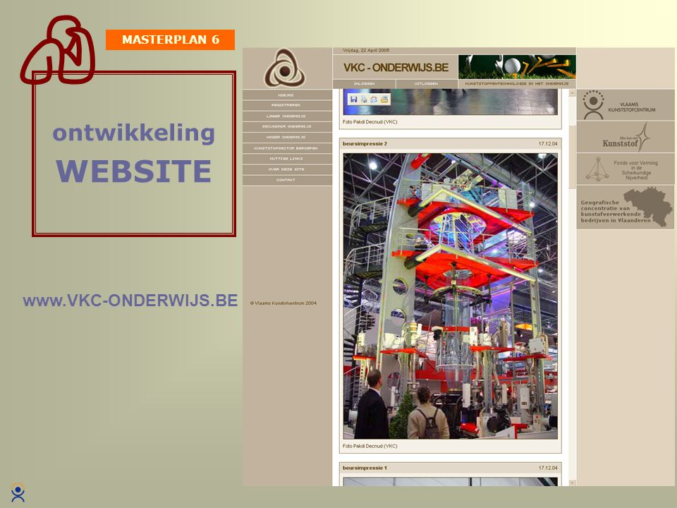 MASTERPLAN 6 ontwikkeling WEBSITE www.VKC-ONDERWIJS.BE
