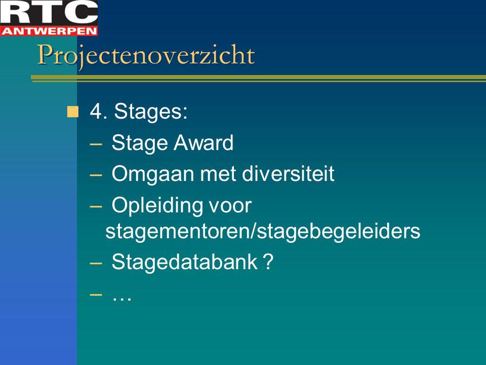 Projectenoverzicht 4. Stages: Stage Award Omgaan met diversiteit