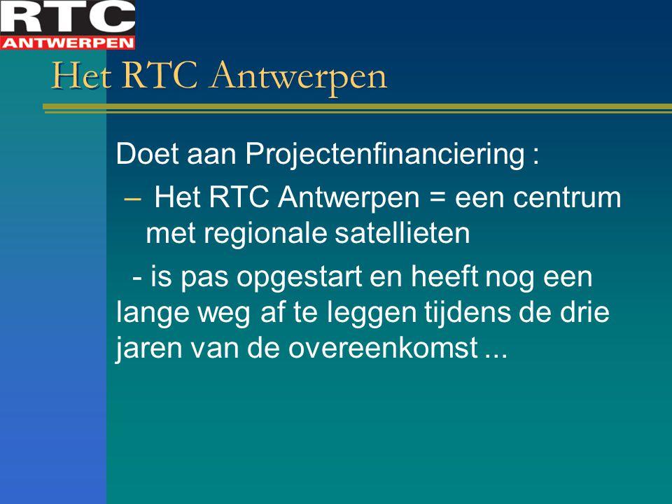 Het RTC Antwerpen Doet aan Projectenfinanciering :