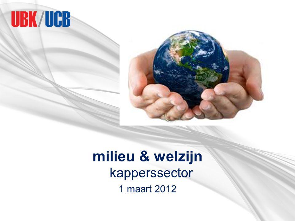 milieu & welzijn kapperssector 1 maart 2012