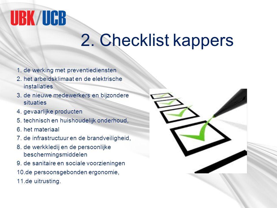 2. Checklist kappers de werking met preventiediensten