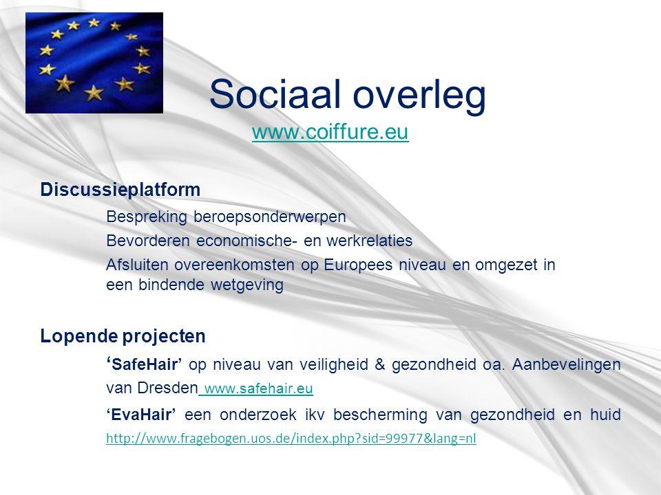 Sociaal overleg www.coiffure.eu