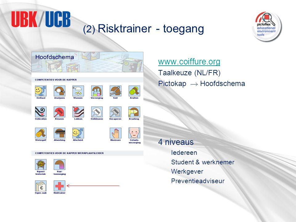 (2) Risktrainer - toegang