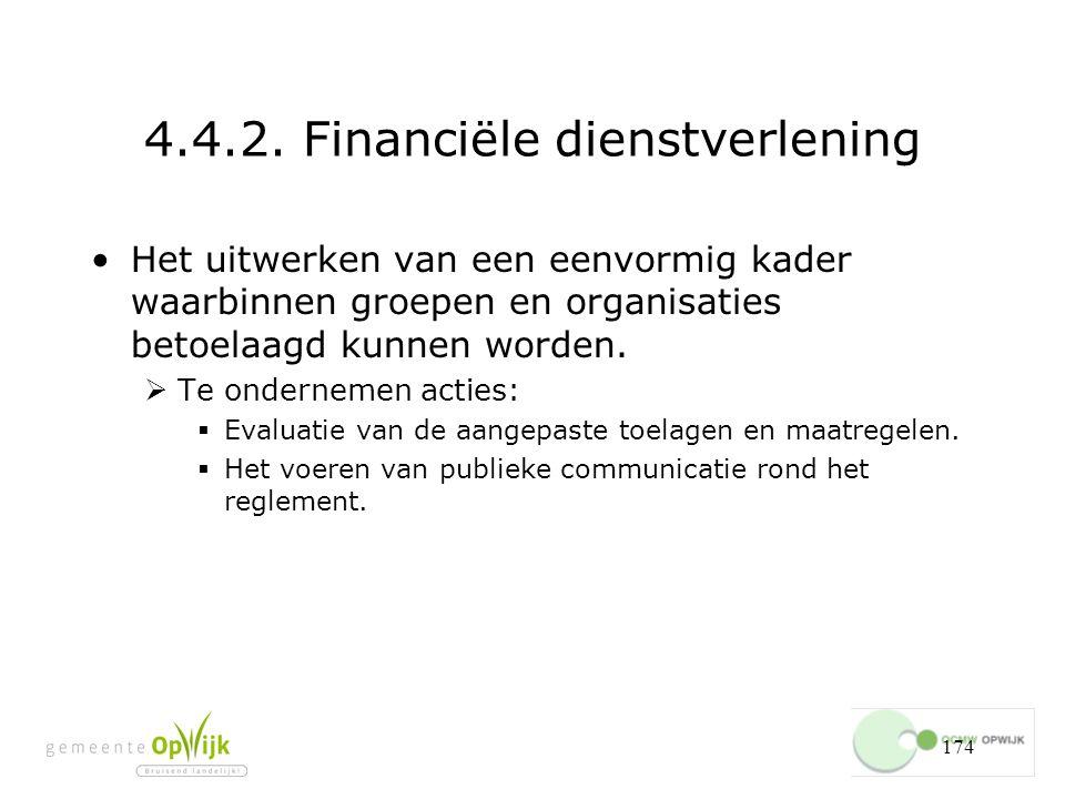 4.4.2. Financiële dienstverlening