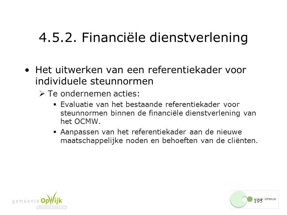 4.5.2. Financiële dienstverlening