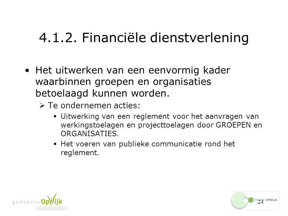 4.1.2. Financiële dienstverlening