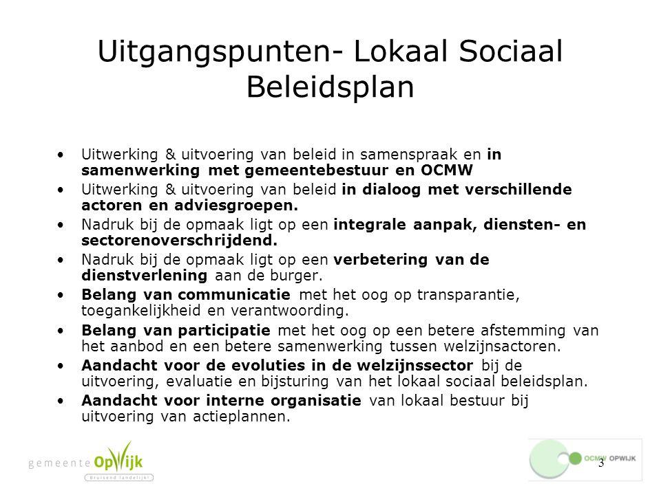 Uitgangspunten- Lokaal Sociaal Beleidsplan