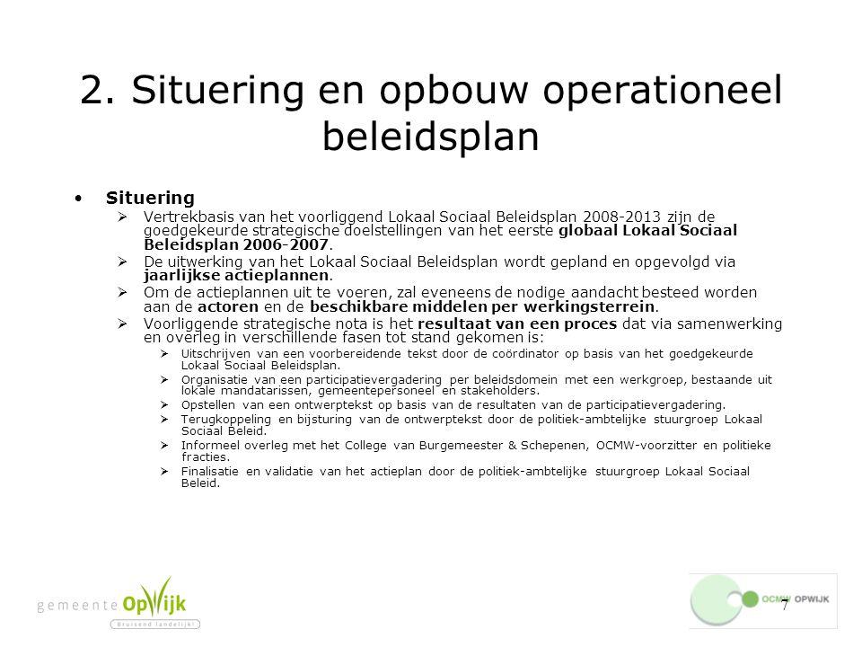 2. Situering en opbouw operationeel beleidsplan