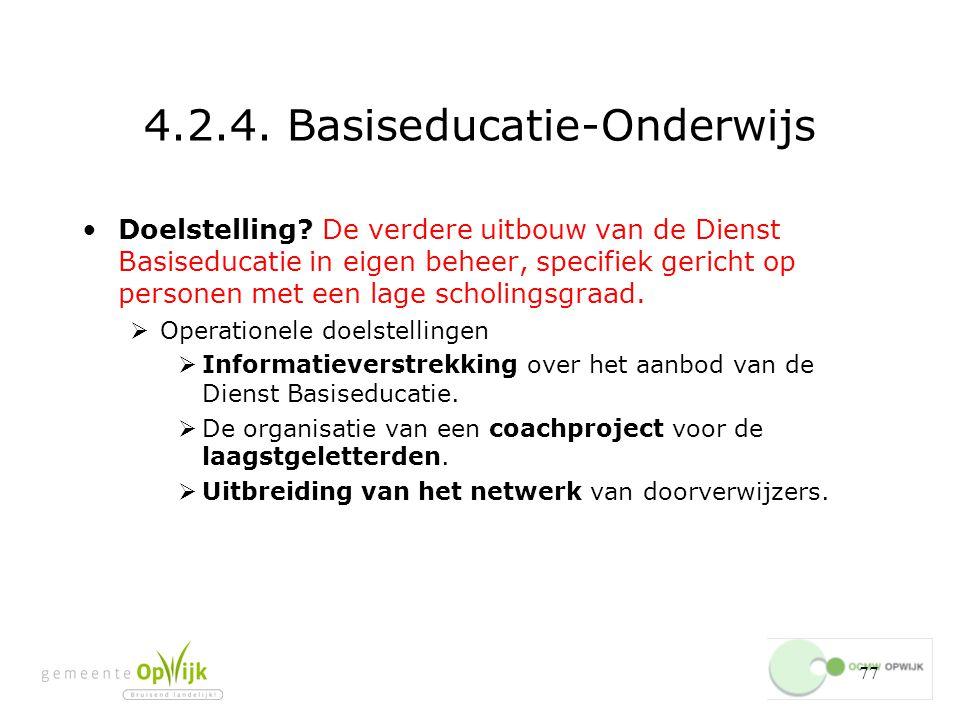 4.2.4. Basiseducatie-Onderwijs