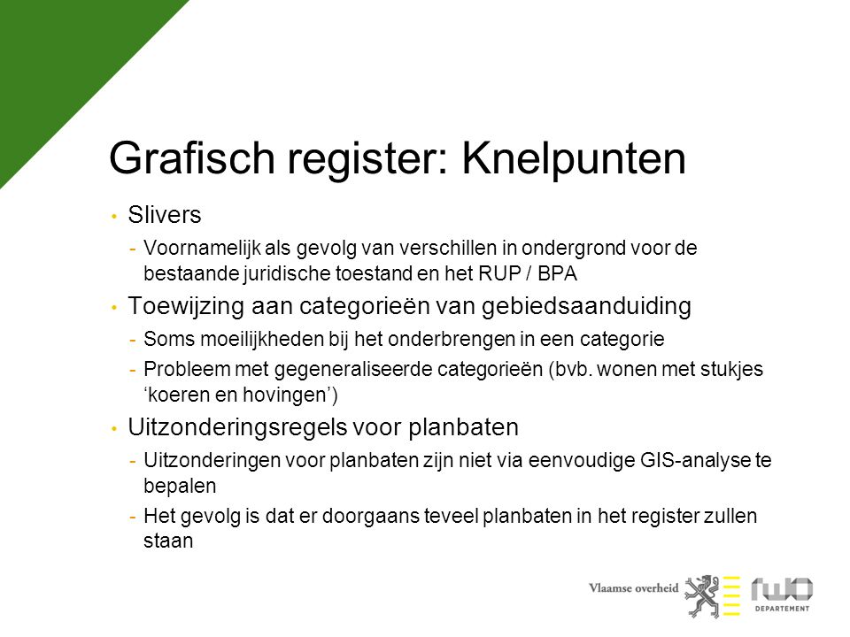 Grafisch register: Knelpunten