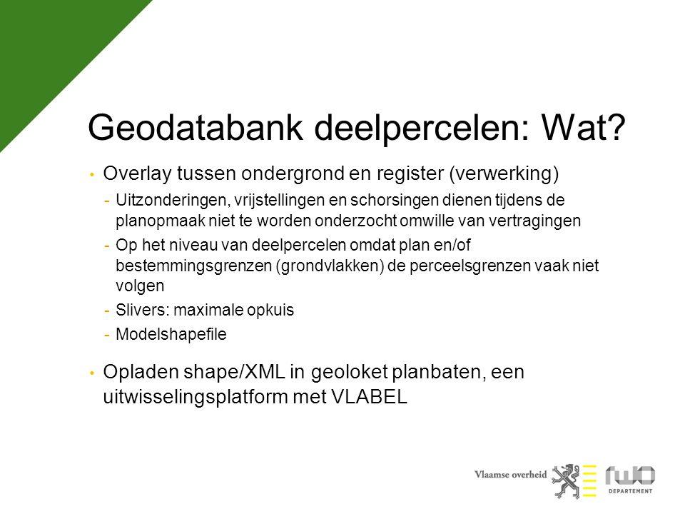Geodatabank deelpercelen: Wat