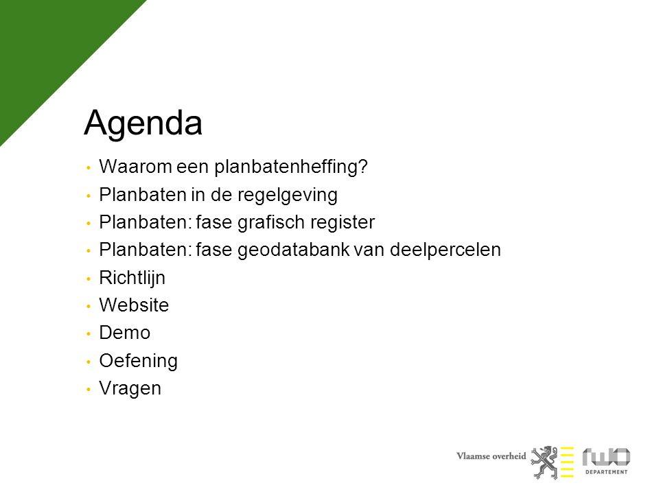 Agenda Waarom een planbatenheffing Planbaten in de regelgeving