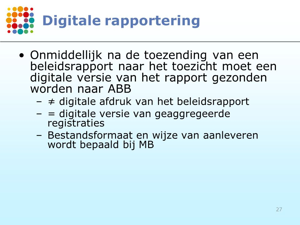 Digitale rapportering