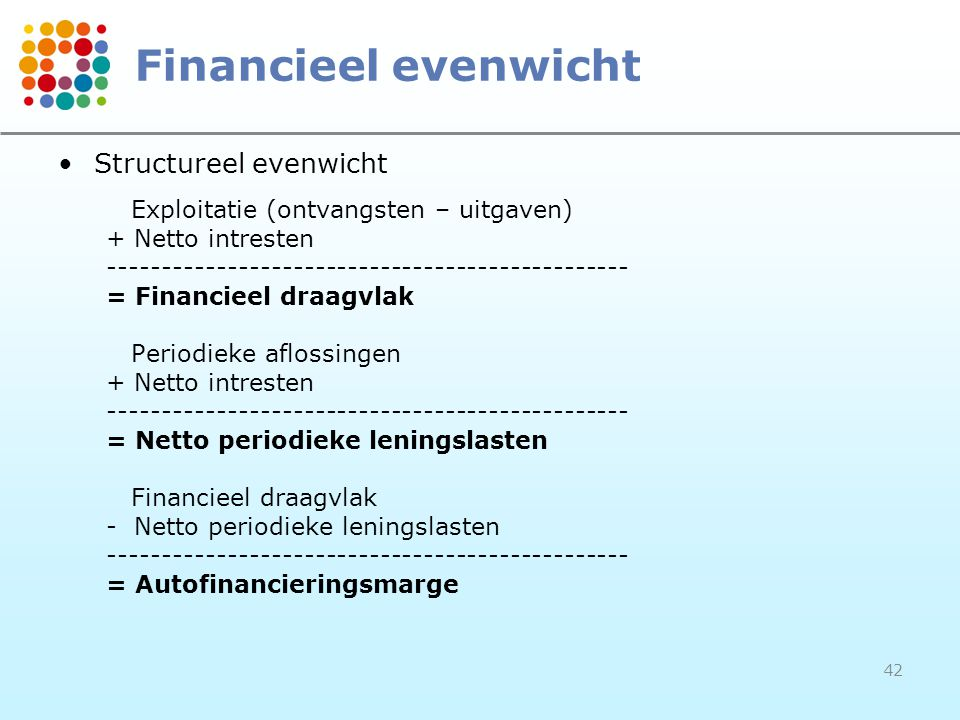 Financieel evenwicht Structureel evenwicht