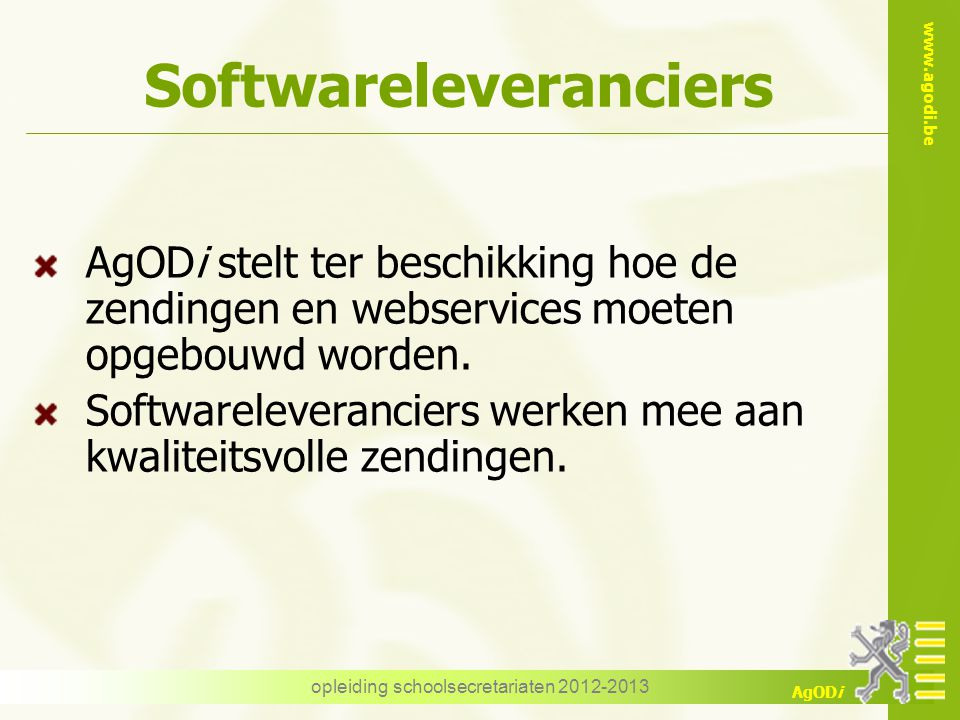 Softwareleveranciers