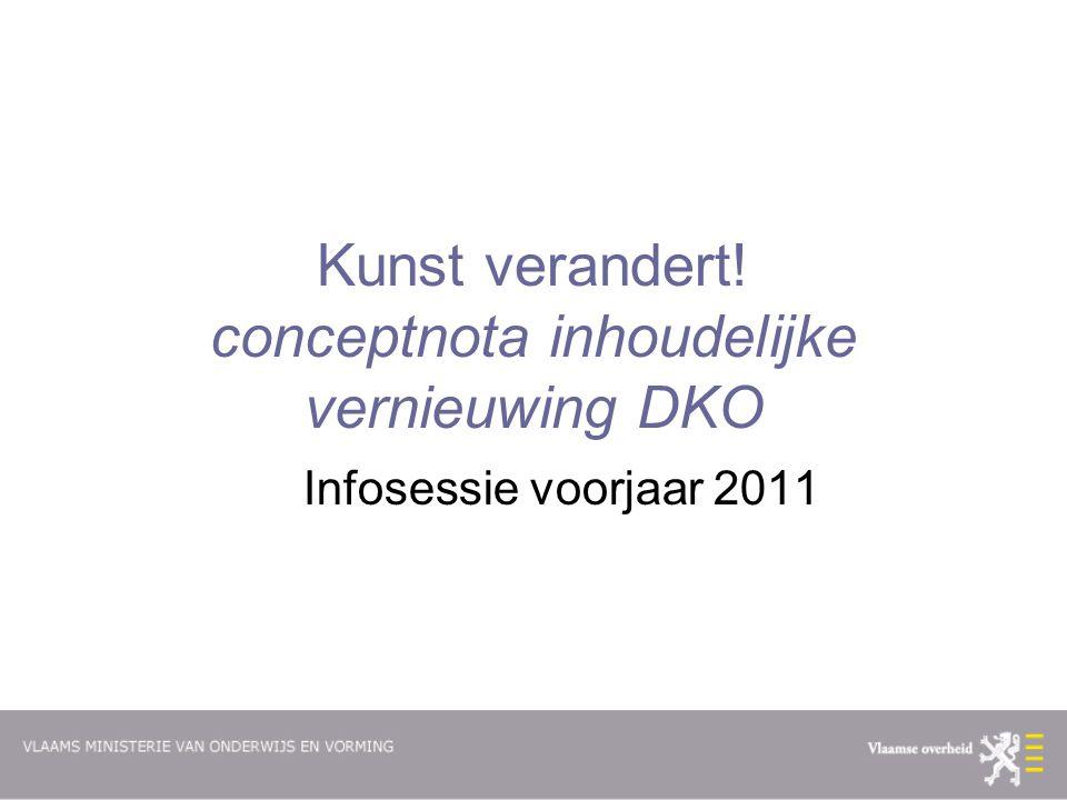 Kunst verandert! conceptnota inhoudelijke vernieuwing DKO