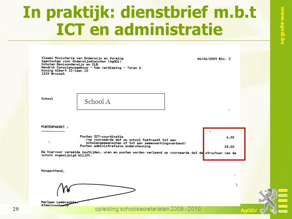 In praktijk: dienstbrief m.b.t ICT en administratie