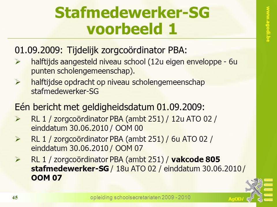 Stafmedewerker-SG voorbeeld 1