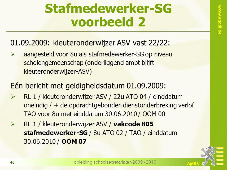 Stafmedewerker-SG voorbeeld 2