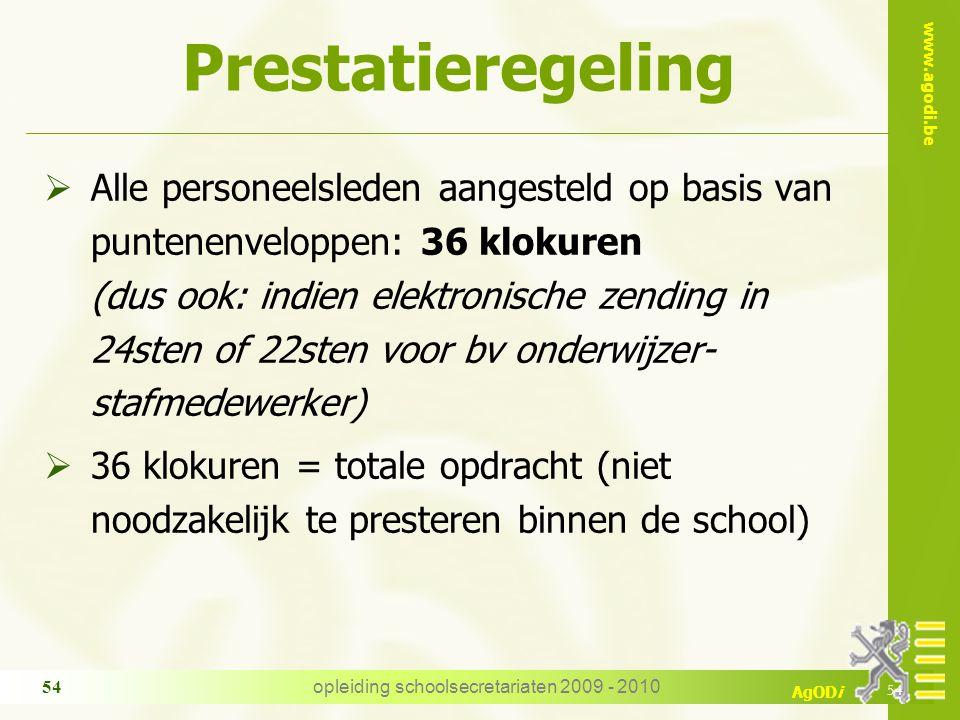 opleiding schoolsecretariaten 2009 - 2010