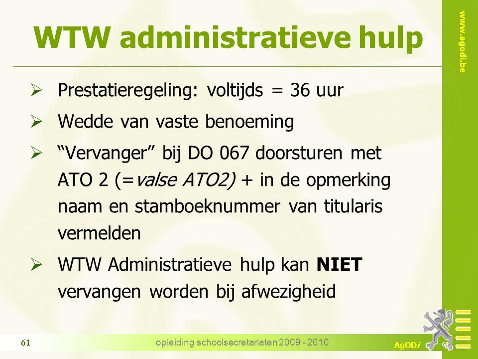 WTW administratieve hulp