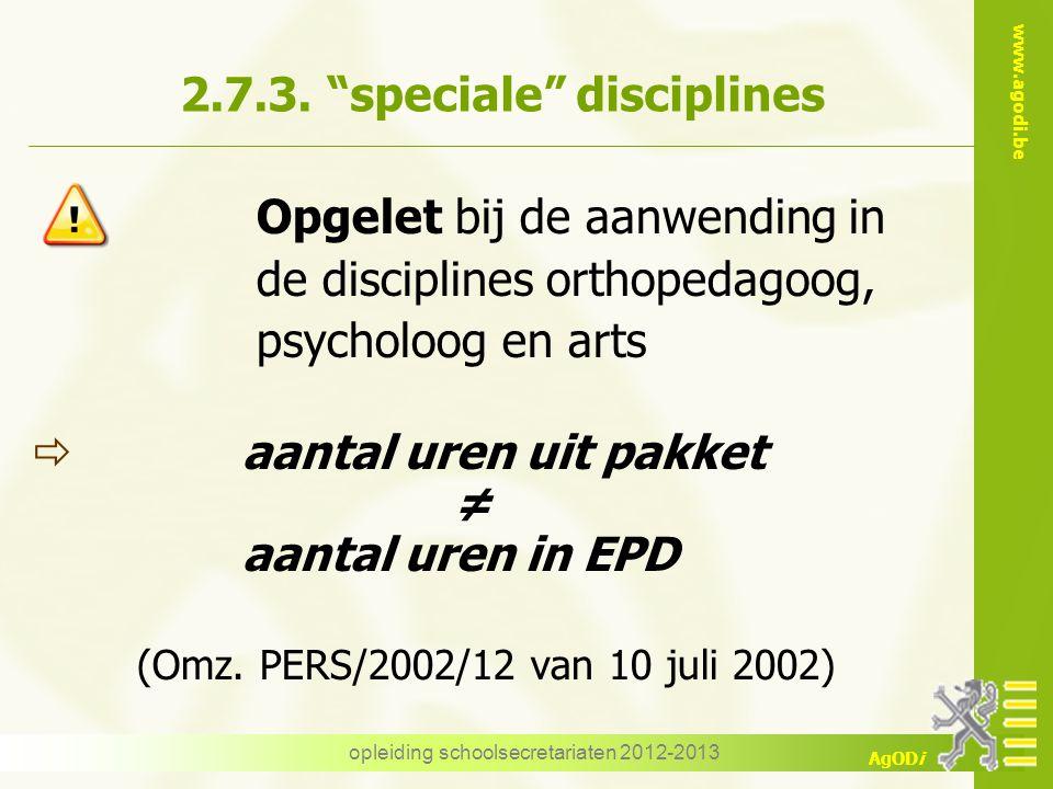 2.7.3. speciale disciplines
