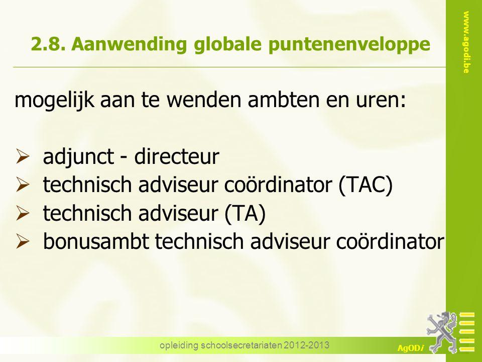 2.8. Aanwending globale puntenenveloppe