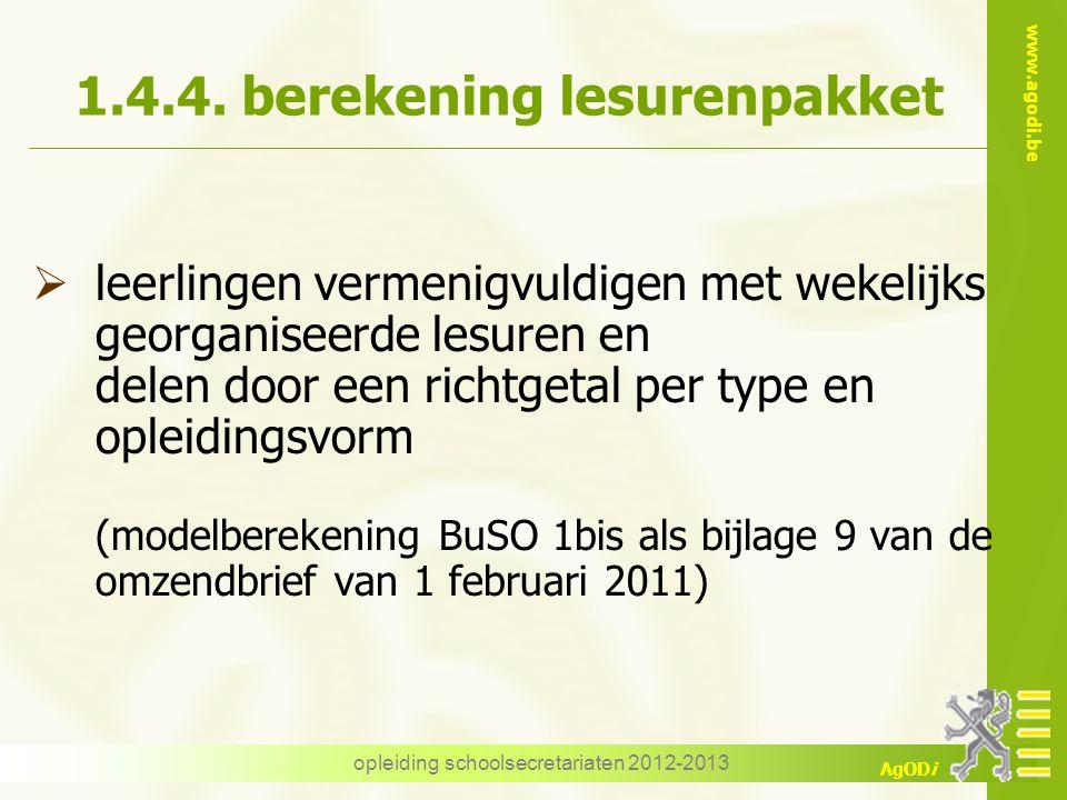 1.4.4. berekening lesurenpakket