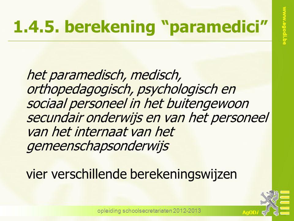1.4.5. berekening paramedici