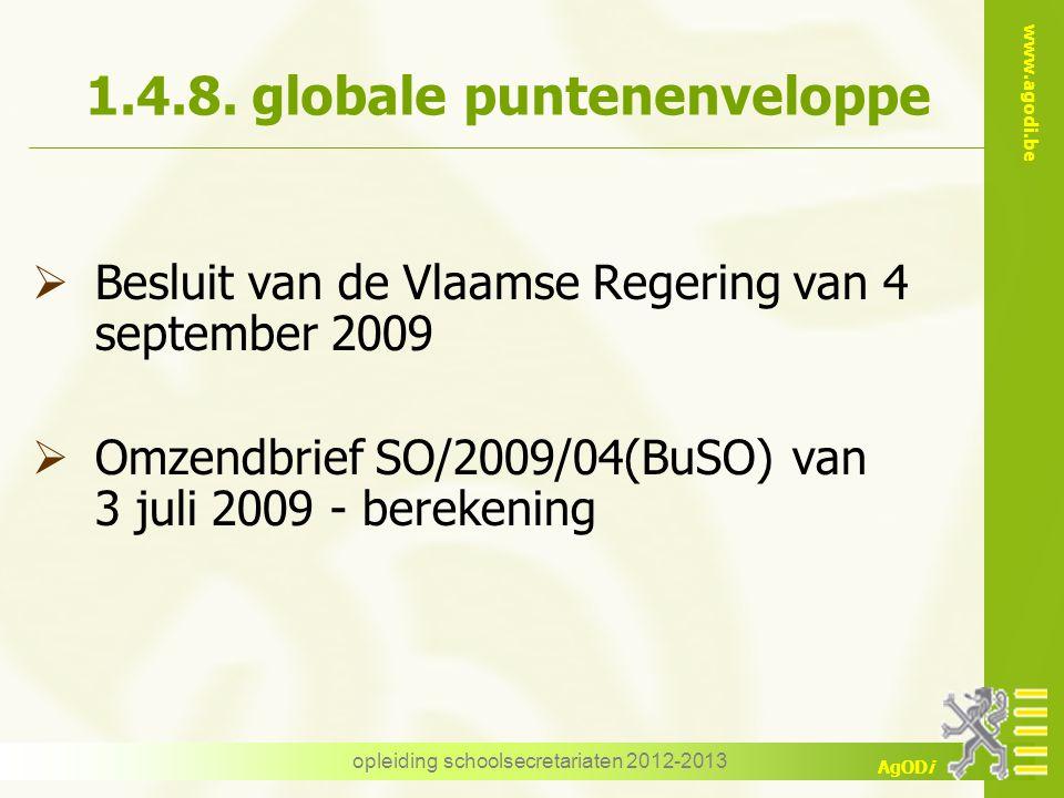1.4.8. globale puntenenveloppe
