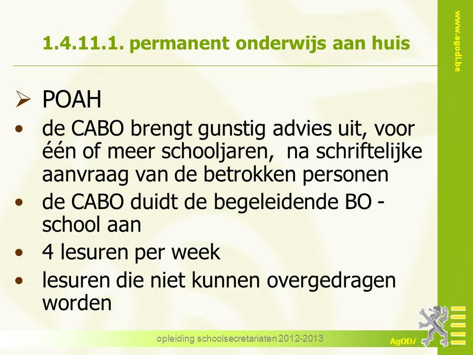 1.4.11.1. permanent onderwijs aan huis
