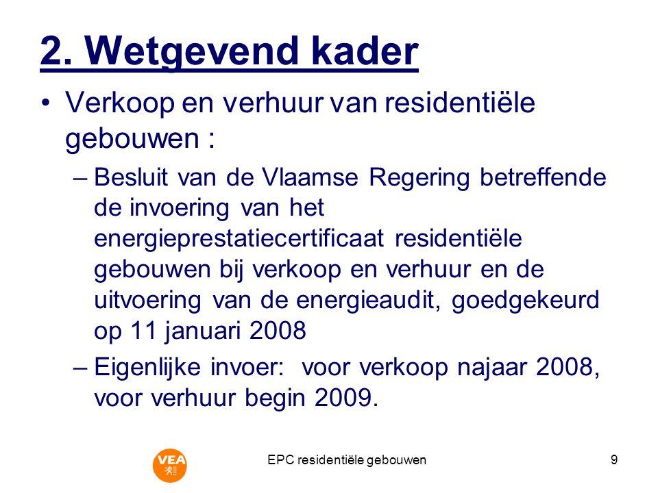 EPC residentiële gebouwen