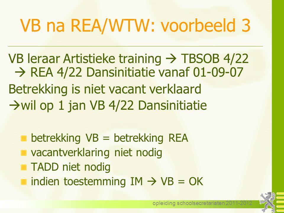 VB na REA/WTW: voorbeeld 3