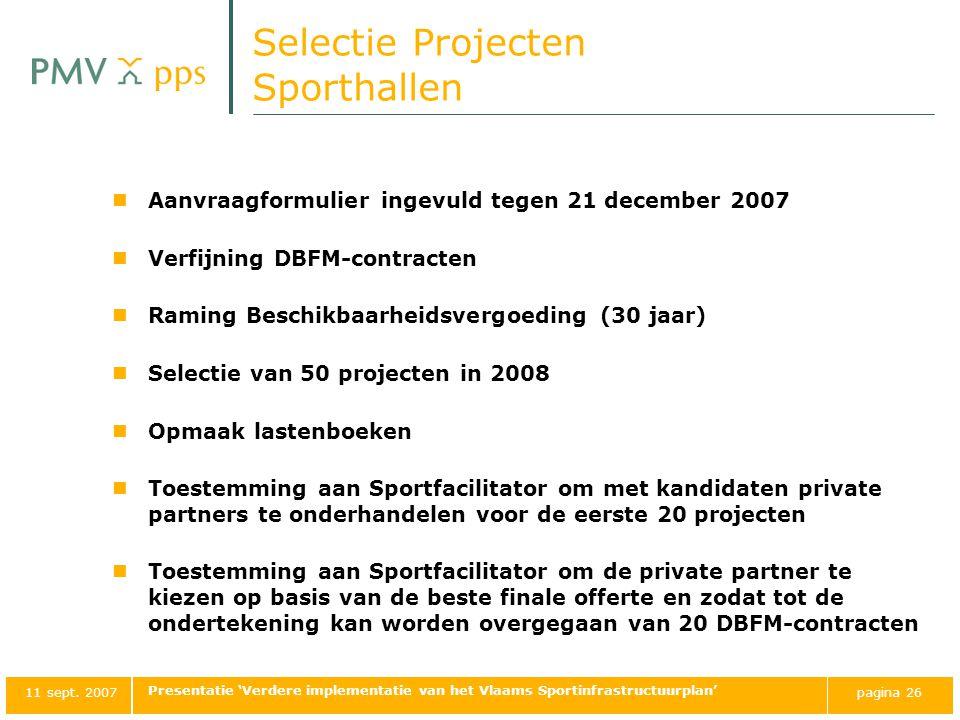 Selectie Projecten Sporthallen