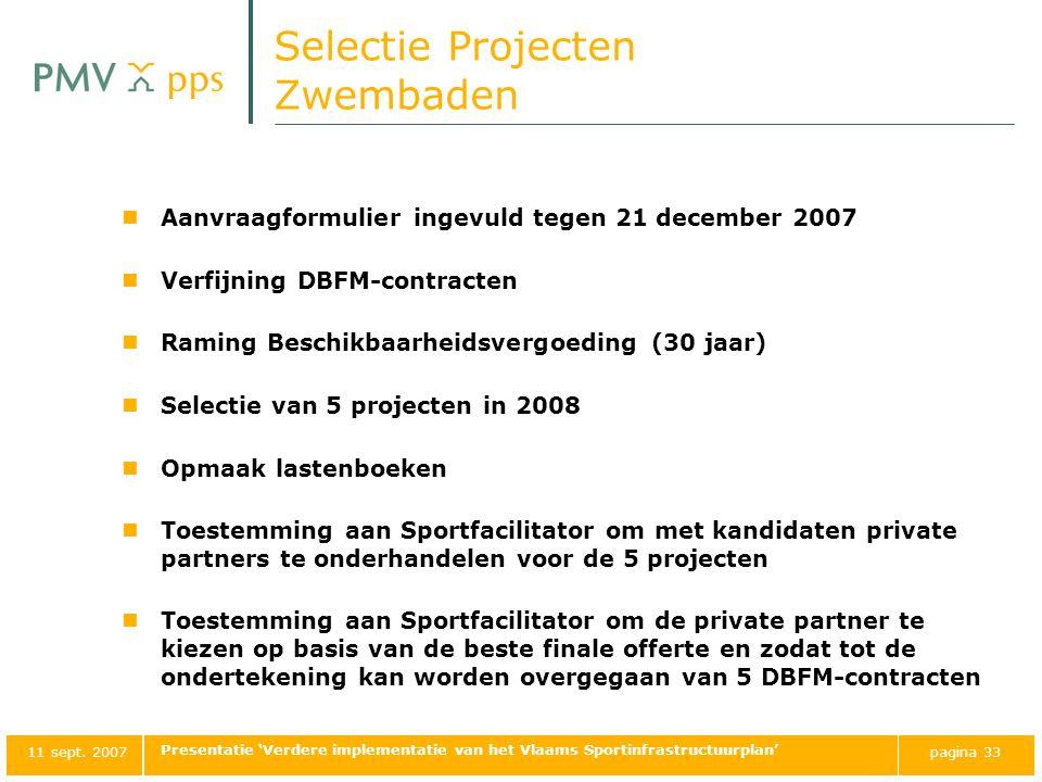 Selectie Projecten Zwembaden