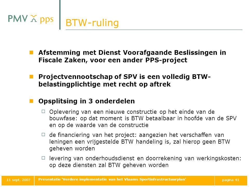 BTW-ruling Afstemming met Dienst Voorafgaande Beslissingen in Fiscale Zaken, voor een ander PPS-project.