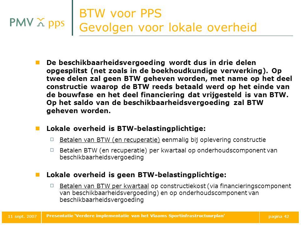 BTW voor PPS Gevolgen voor lokale overheid